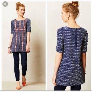 Akemi + kin Anthropologie tunic embroidered L